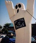 Ghost Balloon - 22 ft. tall Spooky Ghost Inflatables