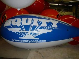 Giant balloons and advertising blimps increase SALES.