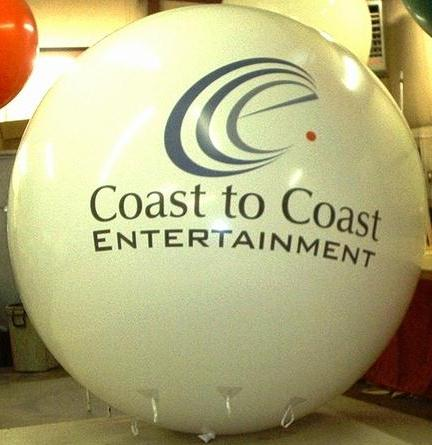 Giant 8 ft. helium balloon with logo.