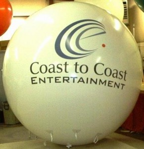 Large 8 ft. helium balloon with logo