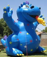 Big 25 ft. Blue Dragon Balloon
