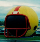 Giant football helmet balloon