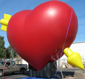 Giant 25 ft. Heart Balloon for Valentine's Day Promotions