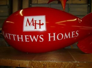 10 feet in length helium advertising blimp with logo