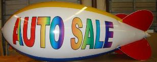 14ft. advertising blimp with lettering - $1031.00