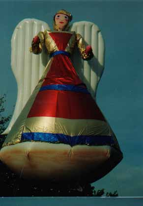 Angel helium parade balloon