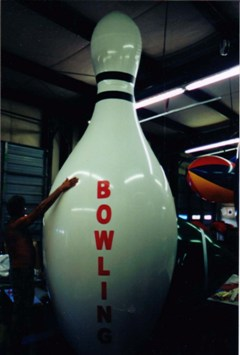 Bowling pin custom advertising balloon