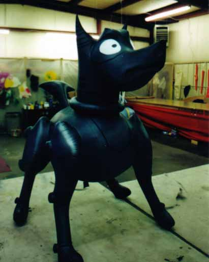 Black Robo-dog custom advertising balloon