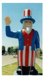 Giant 30 ft. Uncle Sam Advertising Balloon