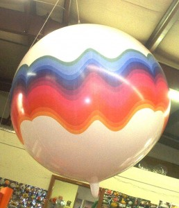 7 ft. helium balloon with logo - $533.00 - Made in USA