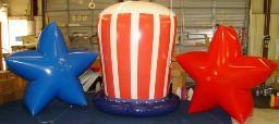 Patriotic theme custom helium balloons