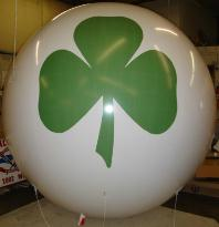 Giant 7 ft. helium balloon with Shamrock