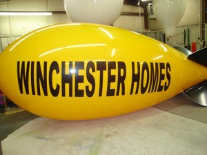 home builder advertising blimps