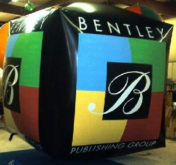 Giant cube shape helium balloon with logo
