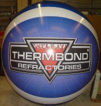 Giant 7 ft. Helium Balloon with logo