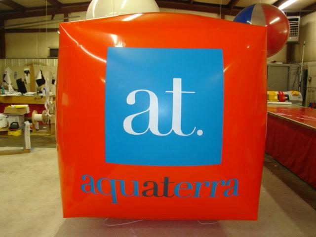 Cube Shape advertising balloon