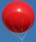 Big helium balloons attract buyers and Sales!