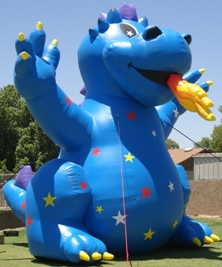 25 ft. Blue Fire Dragon Advertising Balloon