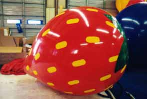 Custom Strawberry Helium Balloon