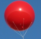 Giant 8 ft. helium balloon for business advertising.