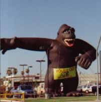 40 ft. tall Kong advertising inflatable
