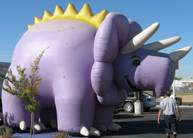 Giant Triceratops advertising inflatable
