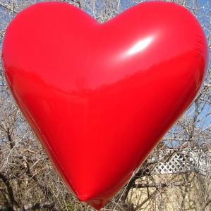 Custom Heart Shape Helium Balloon