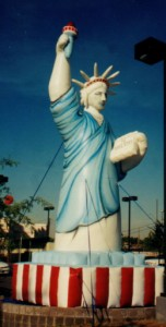 25 ft. Statue of Liberty inflatable for parades and events.