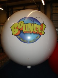 Large reusable 7ft. balloon with Logo - $533.00