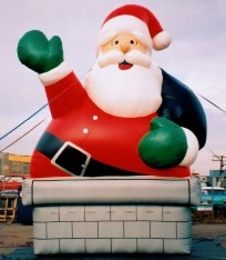 Chimney Santa cold-air advertising inflatable