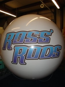 advertising balloon with custom logo