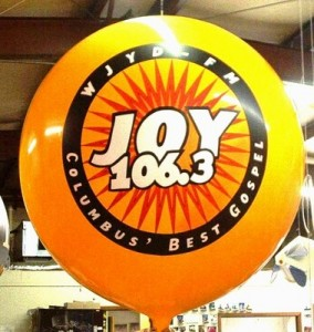 advertising balloon with logo for branding