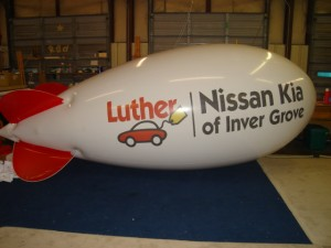 blimp balloon for marketing