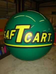 advertising balloon - green with logo