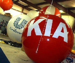 giant balloon - helium balloon with KIA logo