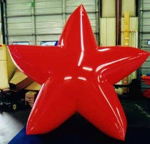 patriotic balloons - star shape red helium balloon for parades and events.