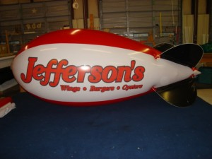 advertising blimp with logo for business advertising