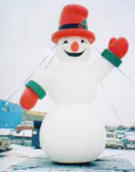 snowman shape 25 ft. high advertising inflatable