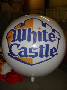 advertising balloon with White Castle logo