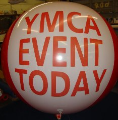 advertising balloon with lettering for business and event promotions