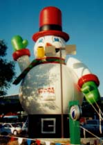 giant 30 ft. tall Snowman Christmas inflatable
