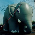 advertising inflatables - huge 25 ft. elephant balloon