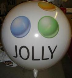 logo balloon - helium balloon with Jolly logo