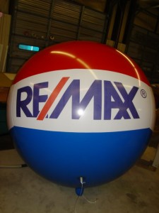 large 6 ft. advertising balloon with business logo
