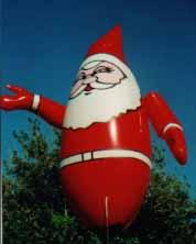 advertising inflatables - Santa shape helium advertising inflatable