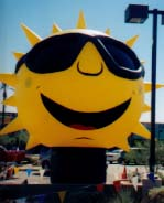 large balloon - 25 ft. tall Sun shape advertising balloon