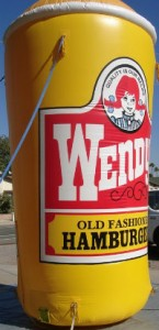 advertising inflatable - 16 ft. Wendy's Frosty cup shape inflatable