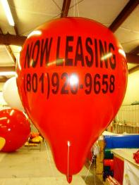 advertising balloon - 9 ft. helium balloon
