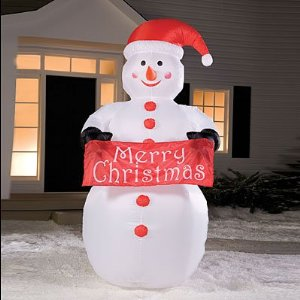 Christmas inflatables - 8 ft. yard size Snowman inflatable