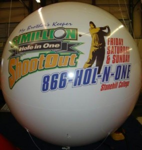 giant balloon with logo